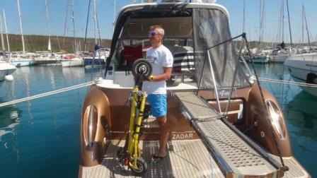 Trikke EV dla właścicieli jachtów, łodzi motorowych.