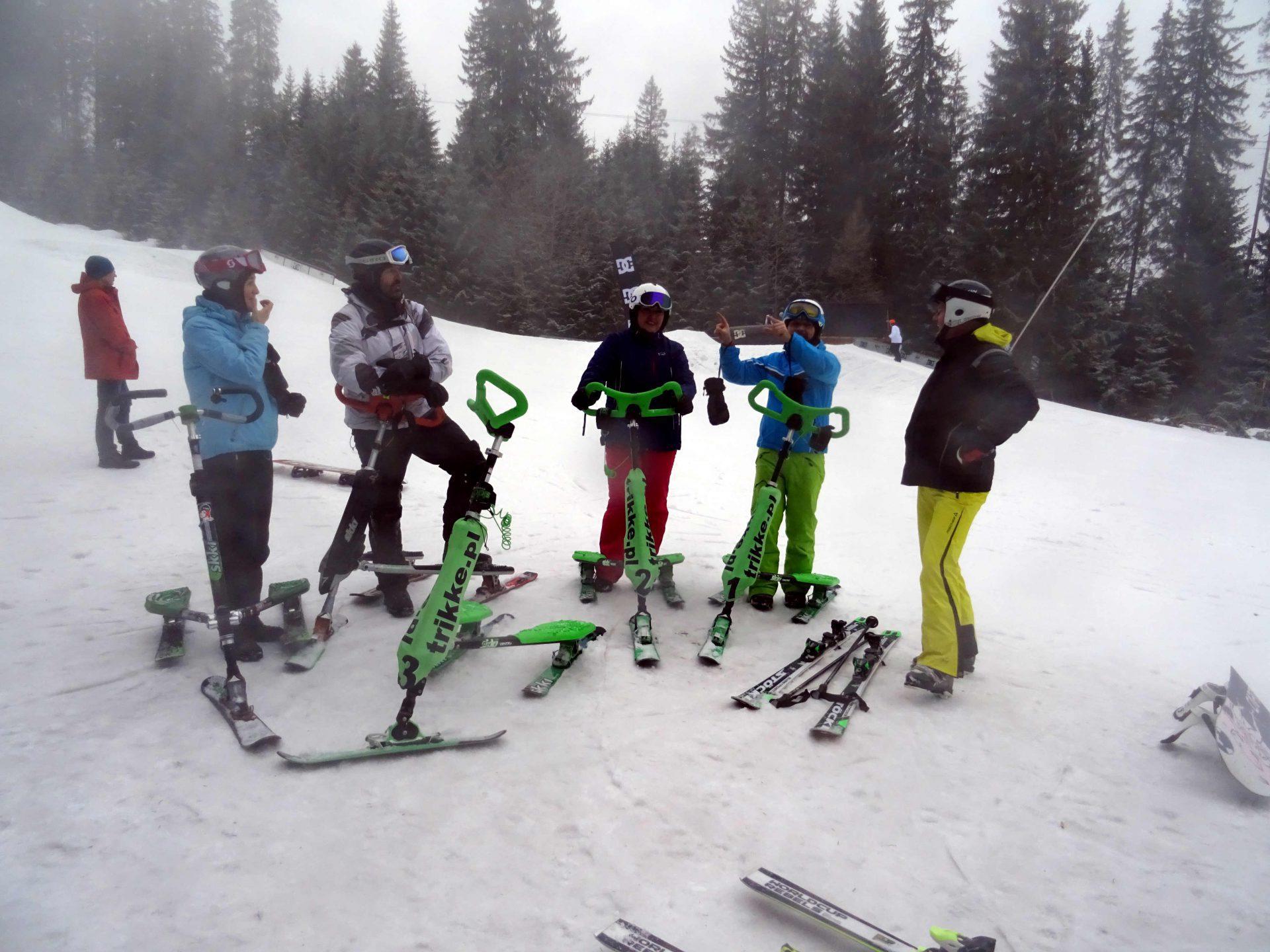 Wzorowa technika jazdy – w drugim dniu swojego narciarstwa.
