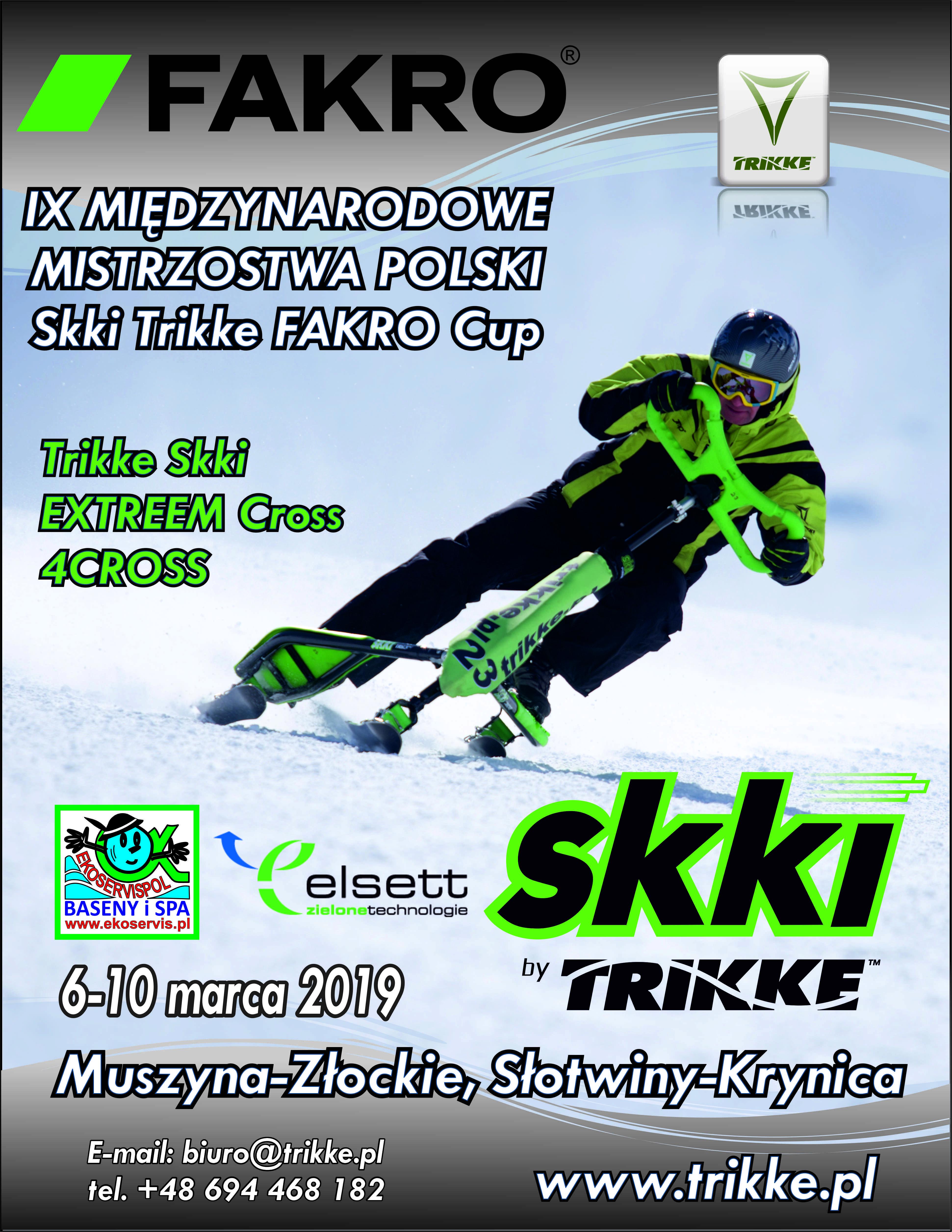 Zaproszenie na IX MIĘDZYNARODOWE MISTRZOSTWA POLSKI SKKI TRIKKE – FAKRO Cup 2019