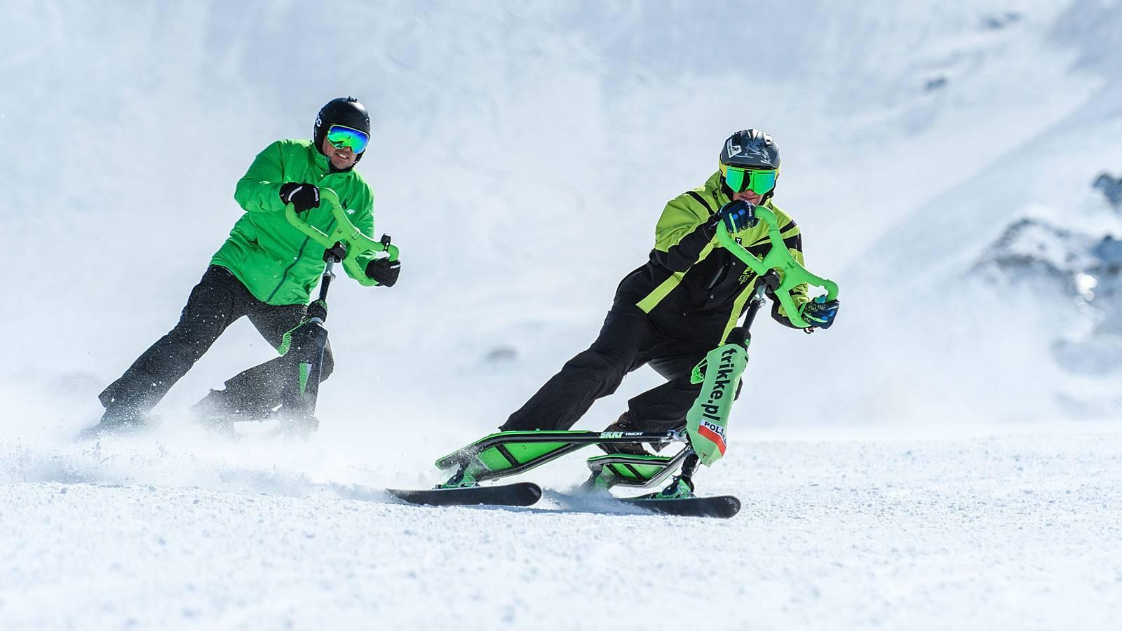Skki Trikke na lodowcu Kaunertal, kończymy sezon zimowy z przytupem.