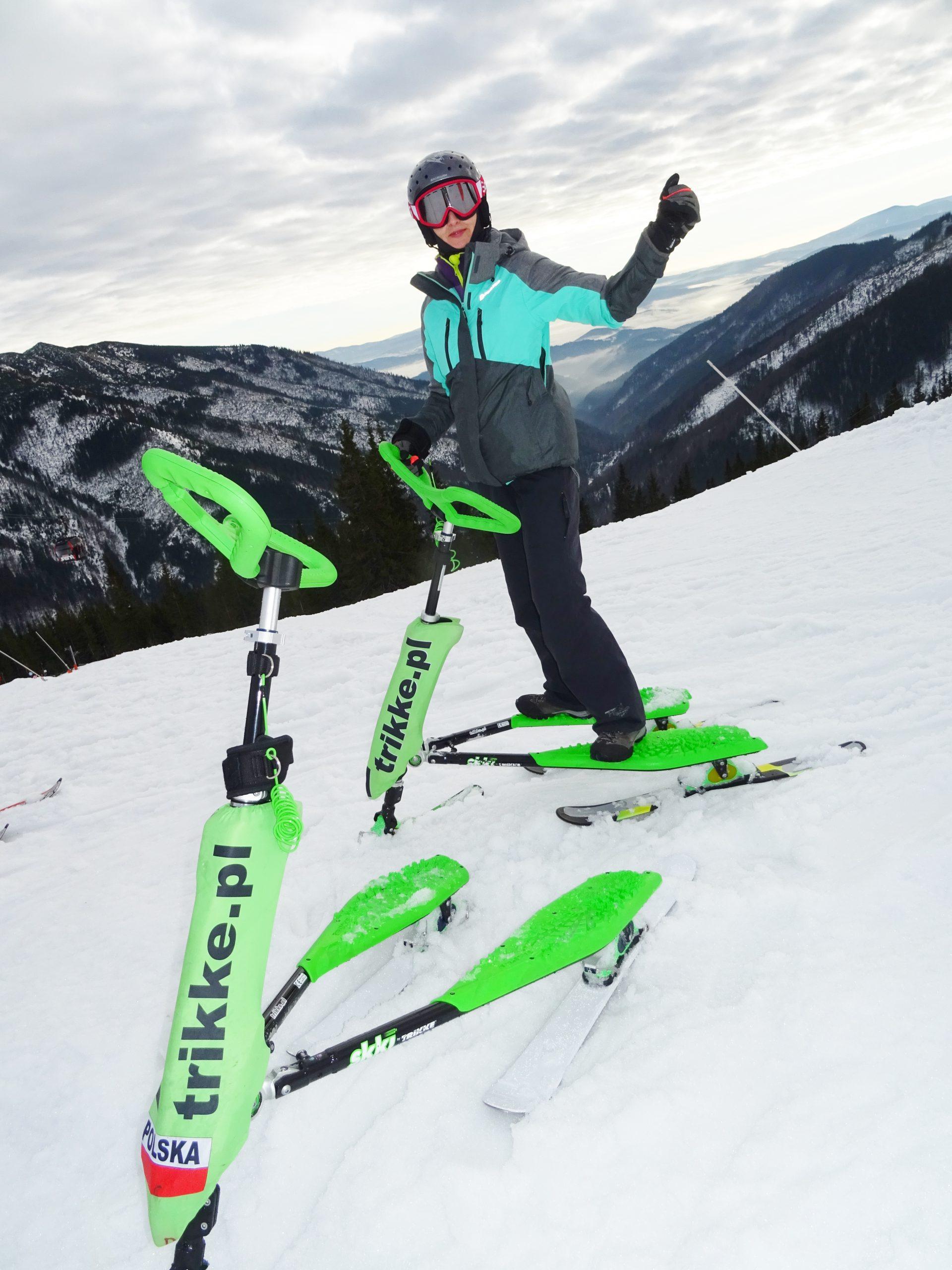 Dlaczego nie bolą kolana w narciarstwie Skki Trikke? Wyjaśnienie, informacje.