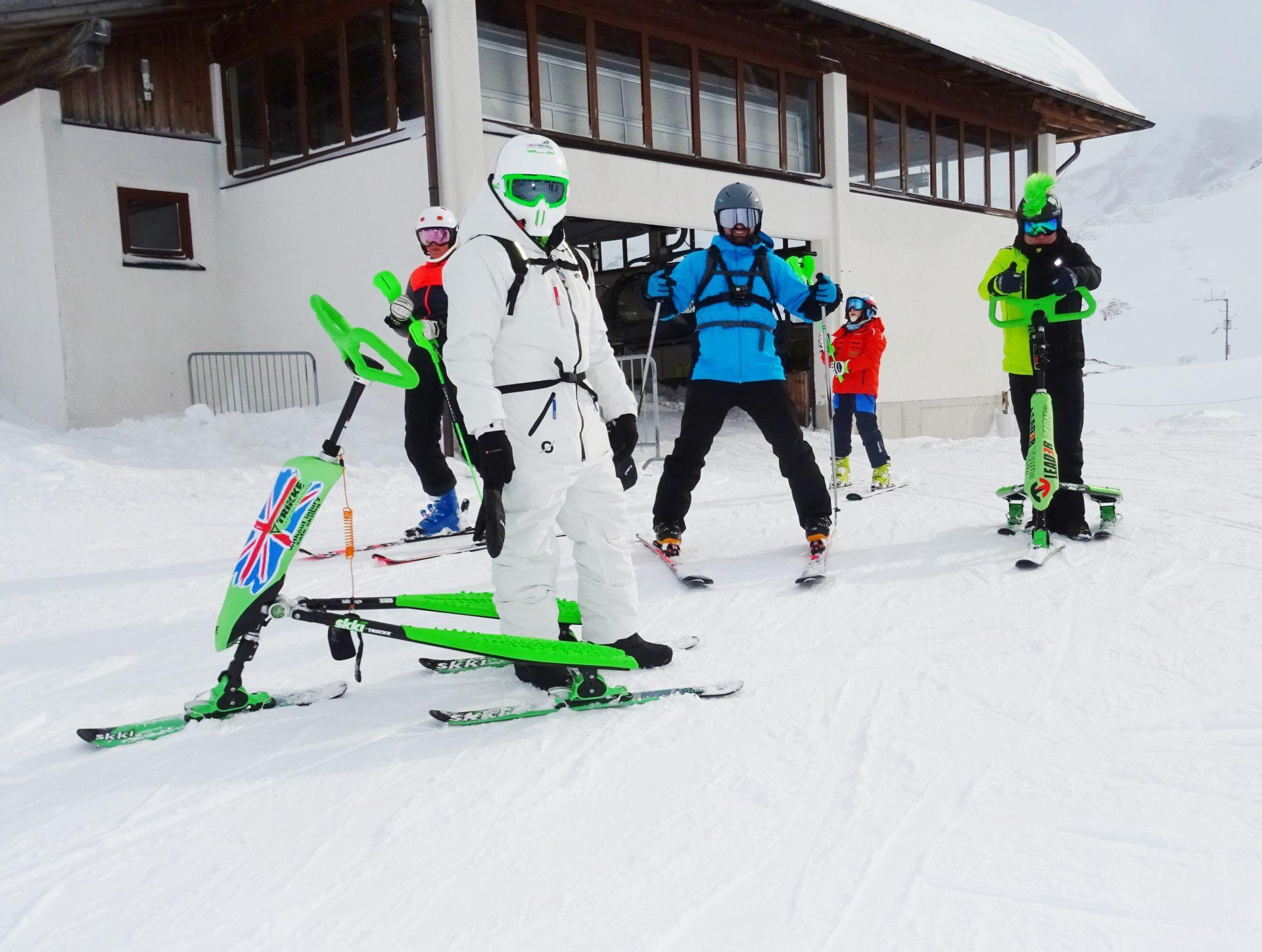 Snowboardziści i Skki Trikke. Moc sportów zimowych!!