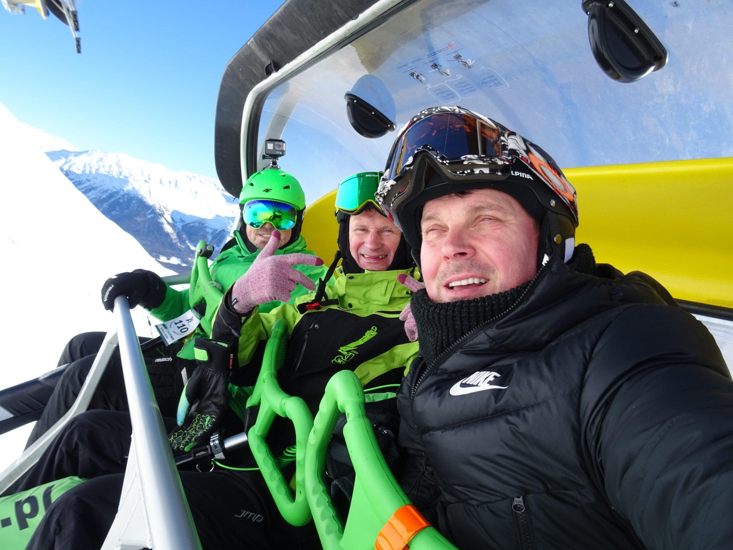 Funowa jazda na Skki Trikke . Prosto z Sankt Moritz Robert prezentuje.