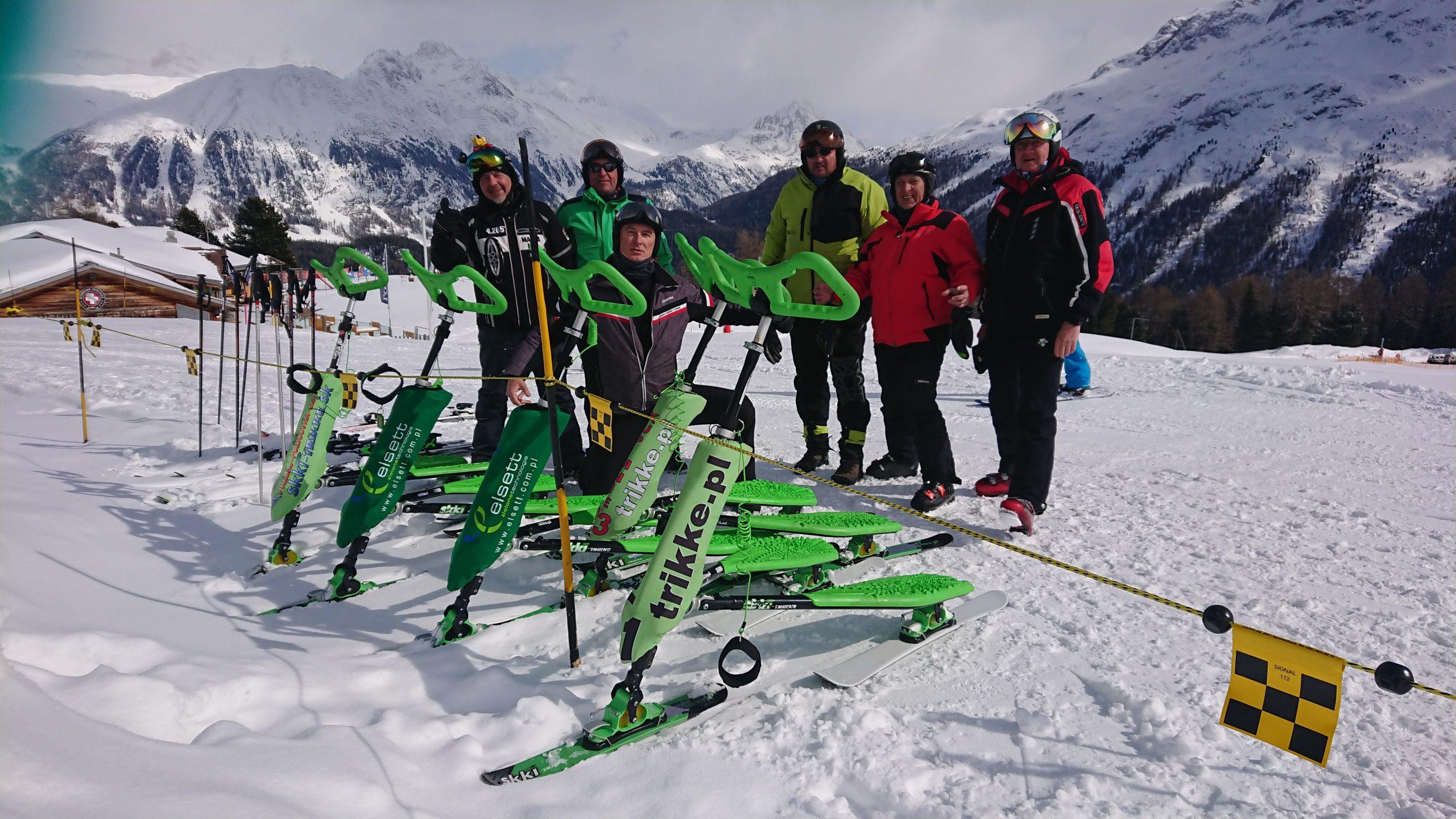 Fun, ride, smile. Skki Trikke. Sankt Moritz, Switzerland.
