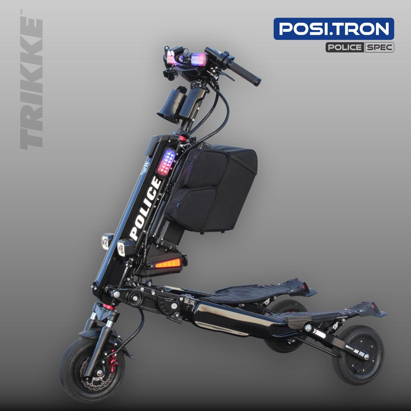 Elektryczny, patrolowy Trikke model POSI.TRON na Uniwersytecie w Dallas.