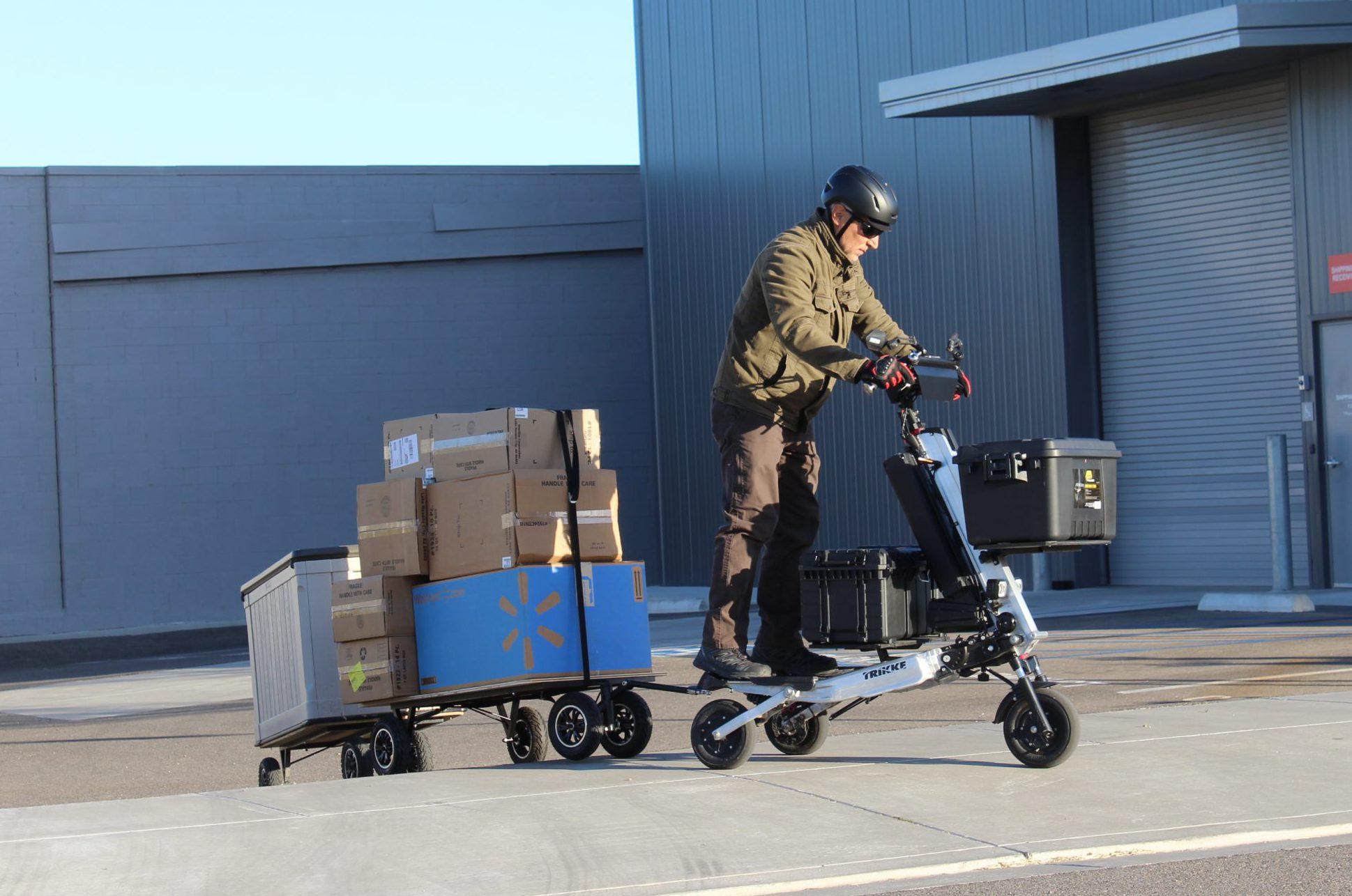 Cargo system w elektrycznych Trikke 3×3.